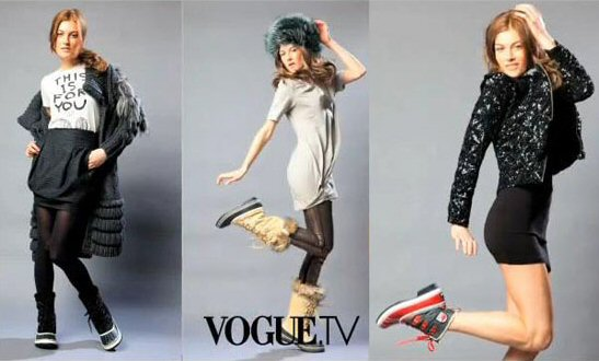 Vogue TV's styling for Sorel winter boots