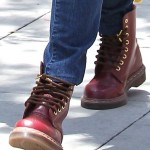 Jessica Alba Spotted Everywhere in Her Red Doc Martens