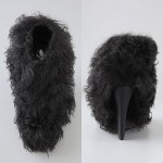 Opening Ceremony Curly Lamb Fur Wedge Booties