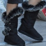 Sandra Bullock Walks on the Snowy Streets of New York City in Australia Luxe Nordic Angel Short Boots