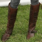 """Ashlee Simpson in Golden Goose Charlye Pull On Boots at the """"A Time for Heroes"""" Event"""