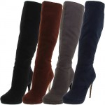 Michael Antonio Becca Faux Suede Knee High Boots