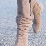 Ashley Tisdale Debuts New Blonde Hair Color Along with Her New Sam Edelman James Suede Over-The-Knee Boots