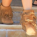 Haylie Duff Shops at Barneys with Ashley Tisdale in Koolaburra Savannity Boots