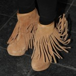 "Britney Spears Kicks Off Her ""Femme Fatale"" European Tour in Koolaburra Veleta Fringe Wedge Booties"