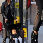 Miranda Kerr Out and About in NYC in Tabitha Simmons Early Ankle Boots