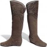 Isola 'Toscana' Perforated Suede Tall Boots