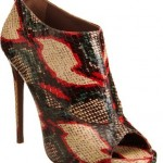 Hissy Fit: Snakeskin Peep-Toe Booties for Summer Glam