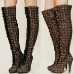 "On Our Wishlist: Jeffrey Campbell ""Crochet Battalion"" Boots"