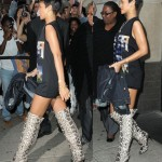 Rihanna's Styling of Snake-Print Thigh-High Boots -- Cool or Chaotic?