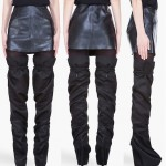 Would You Consider Wearing Slouchy Satin Thigh-High Boots?