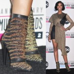 All That Glitters: Brandy Is Fashionably Golden in Barbara Bui's Bengale Boots