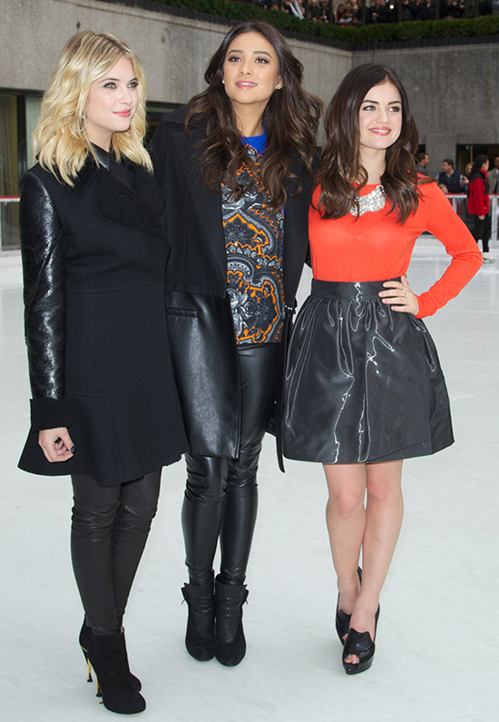 Ashley Benson, Shay Mitchell, Lucy Hale  ABC Family's '25 Days Of Christmas' Winter Wonderland Event at Rockefeller Center New York City