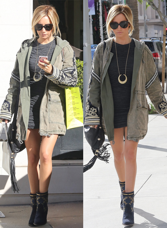 Ashley Tisdale seen out shopping with her mother Lisa Tisdale in Beverly Hills