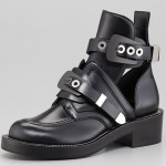 Go Androgynous in Balenciaga Cutout Buckled Booties