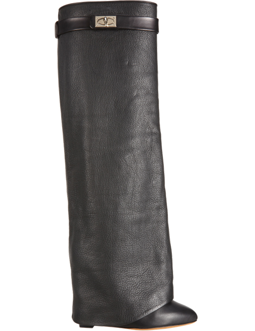 Givenchy Shark Tooth Covered Shaft Knee Wedge Boots3