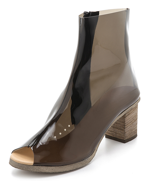 MM6 Maison Martin Margiela Clear Booties in Black