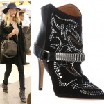 Airport Fashion: Rosie Huntington-Whiteley Goes Cowgirl Chic with Isabel Marant!