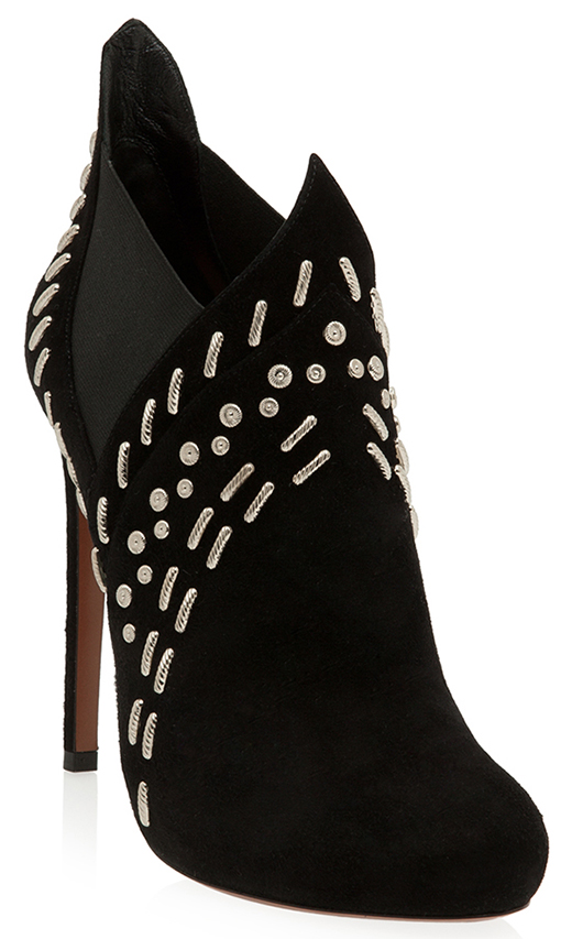Alaia Silver Stud Ankle Boot