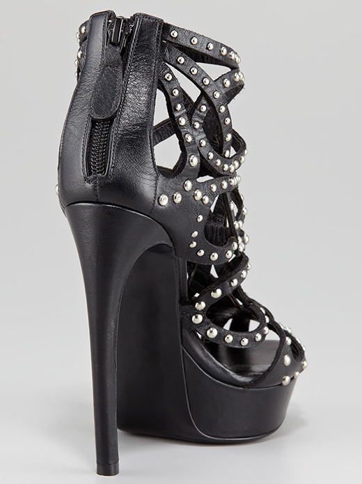 Alexander McQueen Studded Leather Cage Bootie3