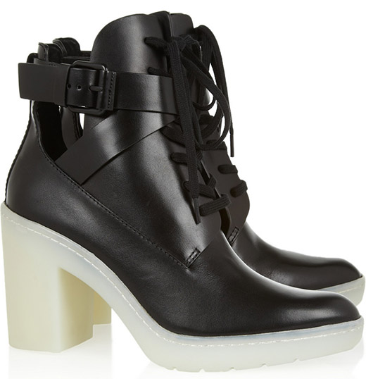 Alexander Wang Leather Lace-Up Boots