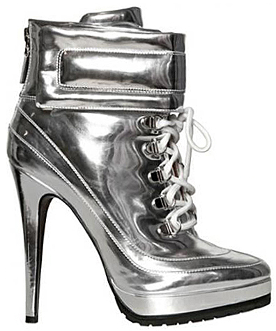 Blumarine Fall 2012 Mirrored Lace-Up Boots