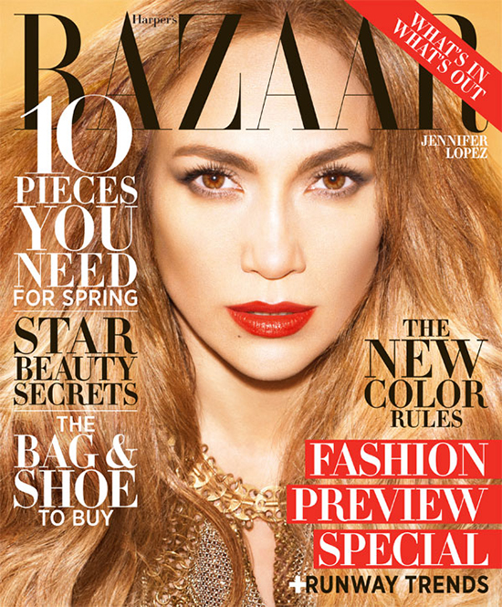 Jennifer Lopez on Harper's Bazaar February 2013 Issue
