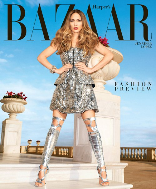 Jennifer Lopez on Harper's Bazaar February 2013 Issue4