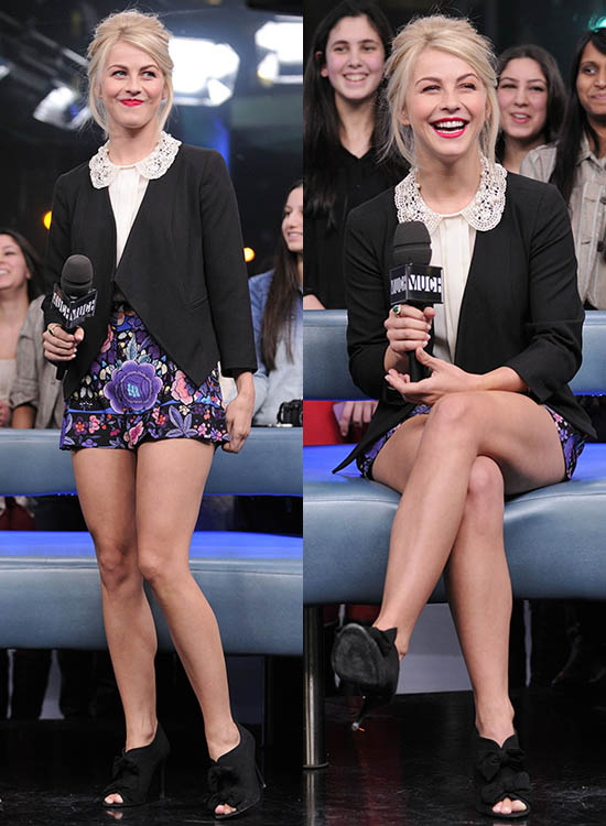 Julianne Hough at MuchMusic's NEW.MUSIC.LIVE Television