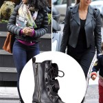Kelly vs. Kourtney: Who Wore the Valentino Ruffles Biker Boots Better?