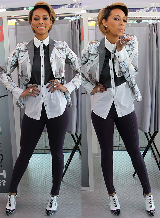 Keri Hilson at Gillette Kiss and Tell National Experiment