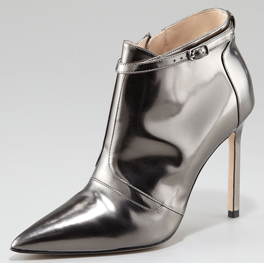 Manolo Blahnik Istbofac Metallic Leather Ankle Boot