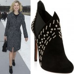Rosamund Pike Goes Edgy-Sophisticated at the Christian Dior Spring 2013 Couture Fashion Show in Paris