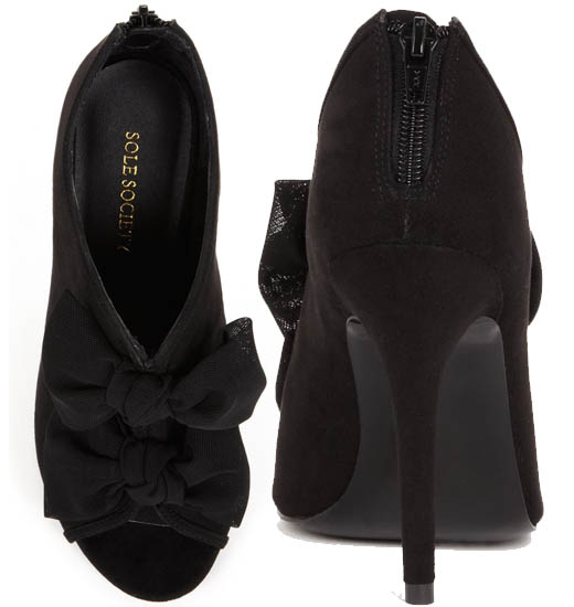 Sole Society Caroline Booties in Black3