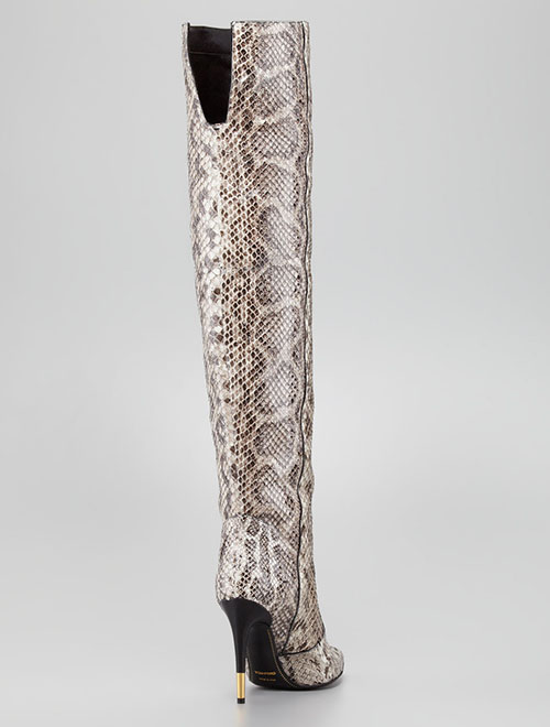 Tom Ford Over the Knee Anaconda Boot2