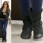 Audrina Patridge Jet Sets in Biker Boots