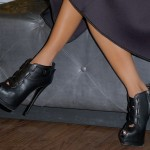 "Adrienne Bailon's Show-Stopping Booties at the ""Raine"" Magazine Launch"