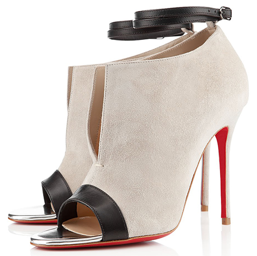 Christian Louboutin Diptic Booties in Stone Suede