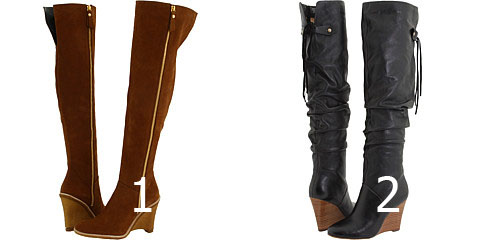 Wedge Over-The-Knee Boots