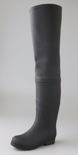 Jeffrey Campbell Wader Over the Knee Rubber Boots