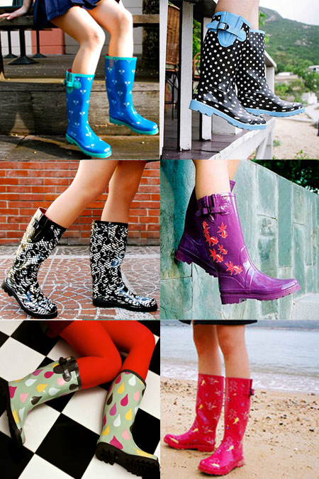 Rain boots from Plueys