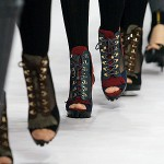 Hiker Boots with Heels at the Sportmax Fall / Winter 2010-11 Fashion Show in Milan