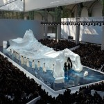 Karl Lagerfeld Imports Glaciers from Sweden for the Chanel Fall 2010 Fashion Show
