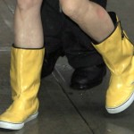 Tina Fey Wears Yellow Rain Boots to the David Letterman Show