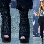 "5 Boots Like Miley Cyrus' ""Can't Be Tamed"" High-Heeled Lace-Up Booties"