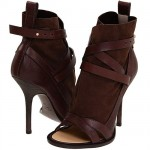 Giuseppe Zanotti WE1701 Brown Leather Sandal Booties