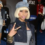 Nicki Minaj at the Samsung Infuse 4G Launch Event in Gucci Woven Calfskin Boots