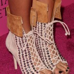 "Cassie Scerbo in Giuseppe Zanotti Diamante Lace-Up Cuff Booties for the Victoria's Secret ""The Reveal of What is Sexy? List"" Event"