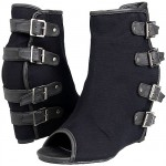 Coconuts by Matisse Iggy 4-Buckle Covered Wedge Booties