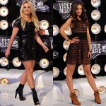 Who Wore Boots at the 2011 MTV VMAs Worse? Britney Spears Vs. Katie Holmes